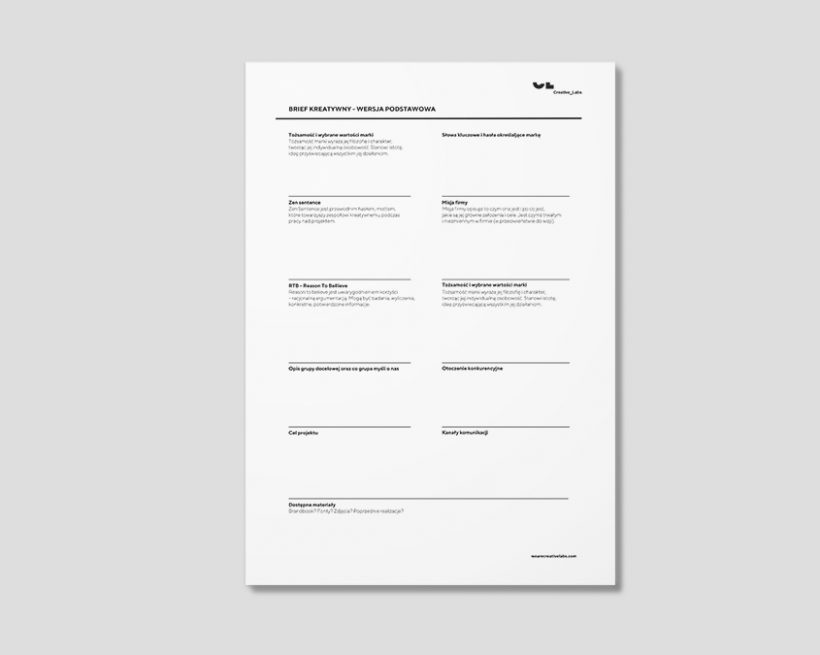 Brief – interpretacja wizji